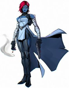 Mystique by Kino Finnegan Xmen Comics, Marvel Xmen, Marvel Heroes, Spiderman Vs Superman, X Men Costumes, Marvel Concept Art, Greatest Villains, Superhero Characters, Superhero Design