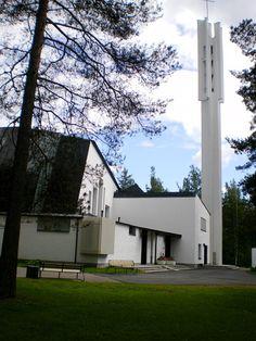 Church of the Three Crosses : Vuoksenniska Churrch, Imatra Finland Helsinki, Grave Monuments, Alvar Aalto, Modern Architecture, Minimalist, Mansions, House Styles, Building, Places