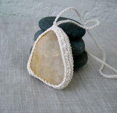 Crochet Stone Necklace  Crochet Necklace  by MariaKonstantin, $25.00