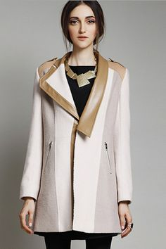 The wool-blend coat featuring paneled design. High Street Fashion, Street Chic, Mode Mantel, Coats For Women, Clothes For Women, Street Style Shoes, Material Girls, Sweater Jacket, Beautiful Outfits