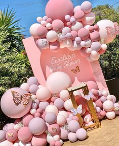 Home Decor Accessories 1st Birthday Party For Girls, Girl Birthday Themes, Baby Girl Shower Themes, Baby Shower Gender Reveal, Baby Party, Ballon Decorations, Birthday Party Decorations, Baby Shower Decorations, Butterfly Birthday Party