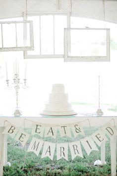 all white #cake table Photography: Jordan Brittley - jordanbrittley.com  Read More: http://stylemepretty.com/2013/10/14/missouri-backyard-wedding-from-jordan-brittley/