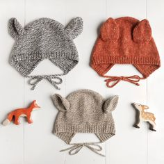 Wiksten: Baby + Child Animal Bonnet Knitting Pattern – Awesome Knitting Ideas and Newest Knitting Models Animal Knitting Patterns, Knitting Designs, Baby Patterns, Knit Patterns, Animal Patterns, Knitting For Kids, Knitting For Beginners, Loom Knitting, Baby Hats Knitting