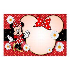 Convite Minnie Vermelha Grátis - DIGIFESTA Minnie Mouse Decorations, Minnie Mouse Theme, Minnie Mouse Birthday Invitations, Mickey Mouse Birthday, Baby Mickey, Minnie Mouse Background, Disney Frames, Mickey Mouse Images, 1st Birthday Party For Girls