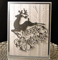 Christmas 2016 Gina Marie designs Merry Christmas die, SU EF Created by Peggy Dollar