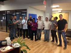 Our team at #RandMarketing showing off our new gift from #SweetWaterBeer!