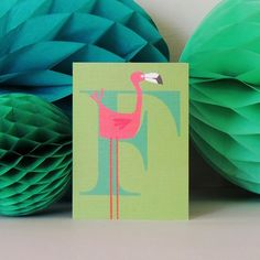 """kali stileman publishing on Instagram: """"F is for FRIDAY! Wishing you all a fab weekend. Lots of exciting things going on in the studio at the moment -stay tuned 📻 😉…"""" Texture Board, Green Backgrounds, Say Hello, White Envelopes, Christening, Flamingo, Alphabet, Unique Gifts, Birthdays"""