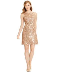 Jessica Howard Sleeveless Sequined Cocktail Dress - Juniors - Macy's
