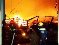 Cháy lớn tại công ty sản xuất ô tô xe máy Suzuki