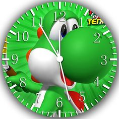 SUPER MARIO AND YOSHI Wall Clock for our game room oneday