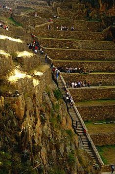 Agricultural terraces, Fortress of Ollantaytambo, Sacred Valley.