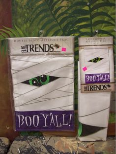 Halloween Flag - Boo Y'all - Garden & Yard Flag size! $12.50 for Garden, $25 for yard flag!