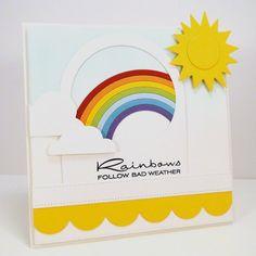 Cheerful Blessings; Rainbow Die-namics; Blueprints 3 Die-namics; Flat Bottom Clouds Die-namics; Sunshine Die-namics - Jody Morrow