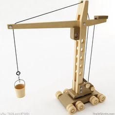 3d models Wooden Toy Crane