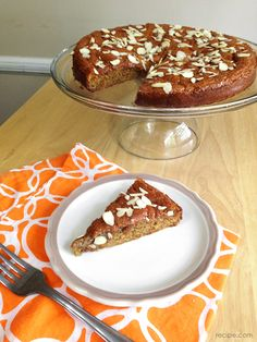 Gluten Free Cake with Honey and Almonds