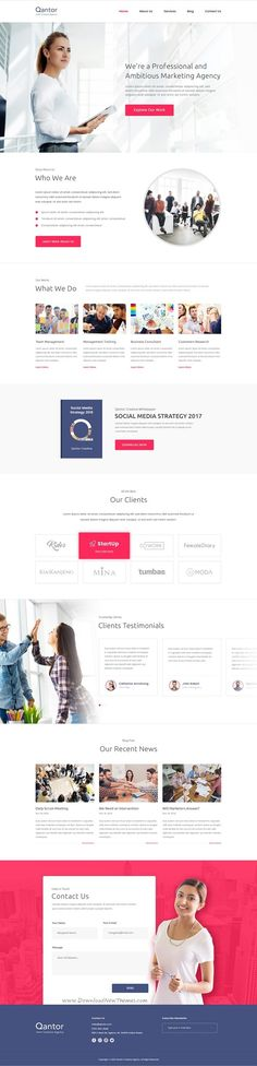 Qantor - Creative Agency Office PSD Template #agency, #business, #company profile, #corporate, #creative, #psd, #services, #social media, #template, #web development, #psd-templates, #corporate About Qantor Qantor is modern and fresh design template for Creative Agency or Creative Office template. This template including the various homepage, various service page, and various blog page. It's c...