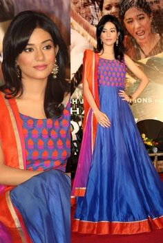 Fashion: Bollywood Designer Anarkali Clothes 2013