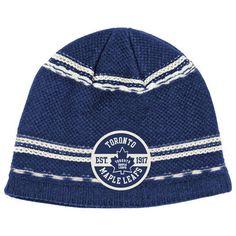 0dd32595a0d Reebok Toronto Maple Leafs Knit Hat - Navy Blue