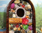 Mosaic birdhouse.