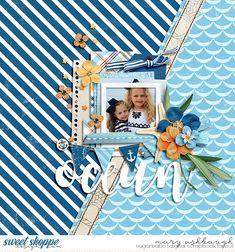 Sweet Shoppe Designs - Making Your Memories Sweeter Beach Scrapbook Layouts, Vacation Scrapbook, Wedding Scrapbook, Scrapbook Paper Crafts, Scrapbooking Layouts, Scrapbook Cards, Friend Scrapbook, Digital Scrapbook Paper, Scrapbook Designs