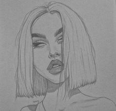 Maggie Lindemann – – Voleta P. Maggie Lindemann – – Voleta P. Cool Art Drawings, Pencil Art Drawings, Art Drawings Sketches, Drawing Faces, Drawing Ideas, Tumblr Sketches, Drawing Girls, Girl Drawings, Woman Drawing