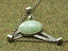 Jade & Sterling Silver Winged Pendant by CallumKiltsJewellery