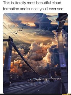 This is literally most beautiful cloud formation and sunset you'll ever see. - iFunny :) drawing clouds This is literally most beautiful cloud formation and sunset you'll ever see. Amazing Nature, Amazing Art, Awesome, Photo Trop Belle, Pretty Pictures, Cool Photos, Beautiful World, Beautiful Places, Beautiful Beautiful