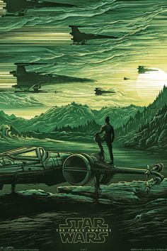 Star Wars The Force Awakens. Poster of X-wings, and probably Poe.