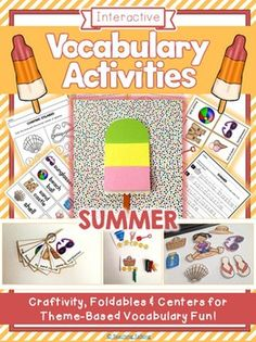 Summer Vocabulary Activities. Repinned by SOS Inc. Resources pinterest.com/sostherapy/.