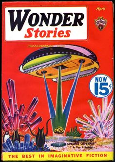 Wonder Stories, April 1934- cover by Frank Paul