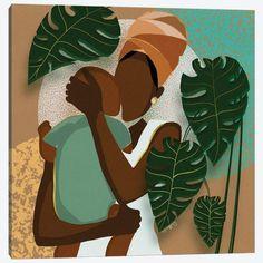 Black Art Painting, Black Artwork, Black Girl Art, Black Women Art, Mother Art, Love Canvas, Brown Art, African American Art, Home And Deco