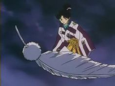 Inuyasha / Kaguya - - Kaguya manipulation of teh wind and the power to fly is awesome. A really difficult and round character.