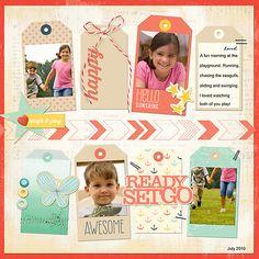 #papercraft #scrapbook #layout    Dear Lizzy Lucky Charm Paper Pack #1