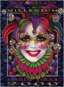 Andrea Mistretta Mardi Gras Poster 2000 The New Millenium