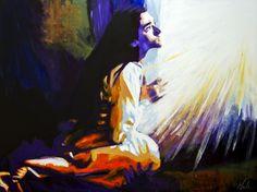 Hail Mary – 30″ x 40″ (76.2cm x 101.6cm) acrylic on canvas by Steve Gamba Steve Gamba | Awestruck.tv