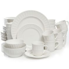 $99 for 48 piece set @ Bed Bath & Beyond right now.  Gibson Home Heritage Place 48-Piece Dinnerware Set