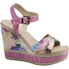 #Catwalk #Keil #Sandalette #pink für #Damen - Absatz 12 5 cm Absatztyp Keilabsatz Farbe pink blau lila gelb…