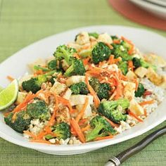 Peanut-Broccoli Stir-fry ...not sure i'm ready for tofu so maybe i'll give this a try without.