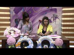 Mulher.com 27/06/2014 - Guirlanda Porta Maternidade por Karina Raszl - YouTube