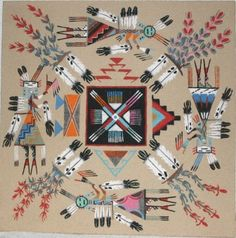 A History of Graphic Design: Chapter Navajo Indians sand painting Native American Artwork, Native American Beauty, Native American Crafts, Native American Artists, American Indian Art, Native American History, Native American Indians, Sand Painting, Sand Art