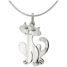 Happy Cat Sterling Necklace