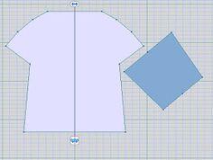 Interesting sweater shape with Swedish machine knitting instructions.