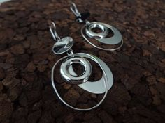 Sterling silver 925 earrings. Circle, Oval Shapes, and Oval hoops. Modern style. Gift for her. Smooth Silver. Mexican Silver de NakuJewelry en Etsy #SterlingSilver #MexicanSilver #Jewelry #Plata 925