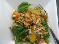 Freekah and pumpkin salad