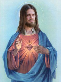 Twd Memes, Heart Poster, Knock On The Door, Heart Of Jesus, Matthew Gray Gubler, Carl Grimes, Jesus Pictures, Sacred Heart, Custom Posters