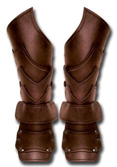 Larp Bracers - Warlord Warlord, brown - with hand guard - Bracers - Leather Armour - Armour