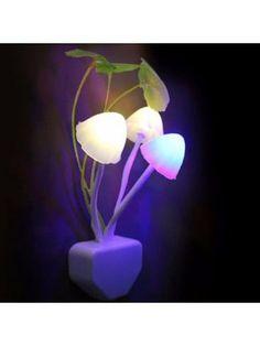 GodRays G051201 - M02 Smart Light Control Mushroom Night Lamp Auto Change Color EU PLUG AC 110 - 220 V