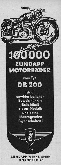 Zündapp Motorräder 1949