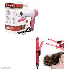 Checkout this latest Hair Stylers Product Name: *TECHICON NHC-2009 in 1 Hair Straightener and Curler (Pink)with TECHICON Professional Folding Hair Dryer * Product Name: TECHICON NHC-2009 in 1 Hair Straightener and Curler (Pink)with TECHICON Professional Folding Hair Dryer  Material: Plastic Multipack: 2 Color: Multicolor Type: Wired Ideal For: Women Sizes:  Free Size Easy Returns Available In Case Of Any Issue   Catalog Rating: ★3.8 (1124)  Catalog Name: Solid Electronic Utility Vol 3 CatalogID_363457 C50-SC1372 Code: 914-2685719-999