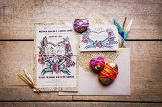 whimsical wedding invitations - photo by Joleen Willis http://ruffledblog.com/handcrafted-sonora-wedding